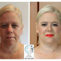 לפני ואחרי איפור