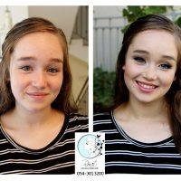 לפני ואחרי איפור נערה
